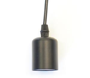 黒メタルソケット(黒コード2m・引掛シーリング付き)